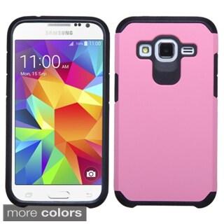 Insten Plain Hard PC/ Silicone Dual Layer Hybrid Rubberized Matte Phone Case Cover For Samsung Galaxy Core Prime/ Prevail