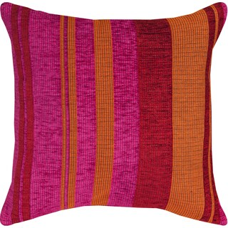 Pink/ Orange/ Red Striped Throw Pillow