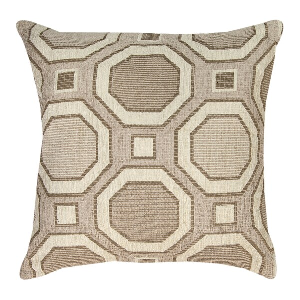 Neutrals Octagon Throw Pillow