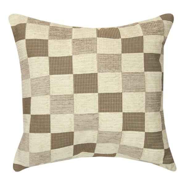 Neutrals Checkerboard Throw Pillow