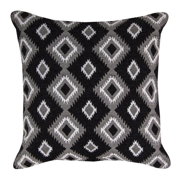 Navajo Black Throw Pillow