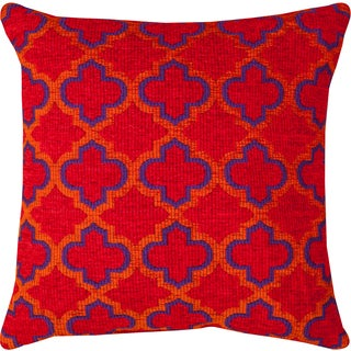 Moroccan Red Throw Pillow