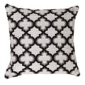 Moroccan Black Throw Pillow