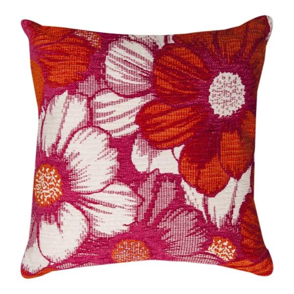 Floral Pink Throw Pillow