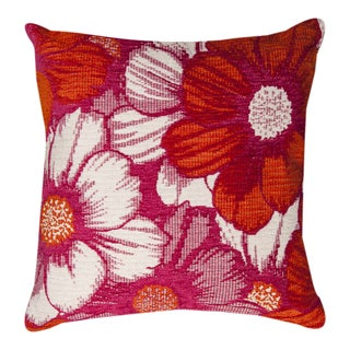 Floral Pink Throw Pillow