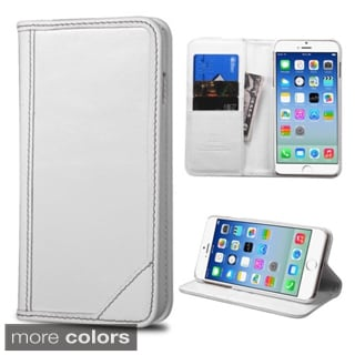 Insten Plain Leather Phone Case Cover with Stand/ Wallet Flap Pouch For Apple iPhone 6