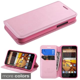 Insten Plain Leather Phone Case Cover with Stand/ Wallet Flap Pouch For ZTE Speed