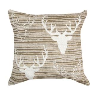 Antlers Neutrals Throw Pillows