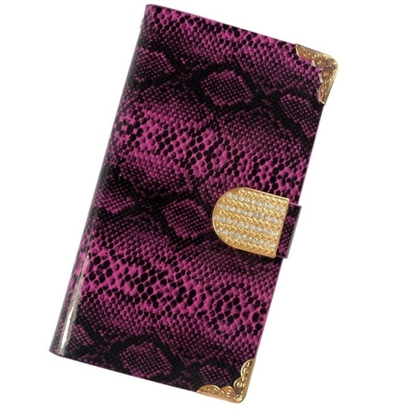 Insten Plain Leather Phone Case Cover with Wallet Flap Pouch/ Diamond For Samsung Galaxy S4