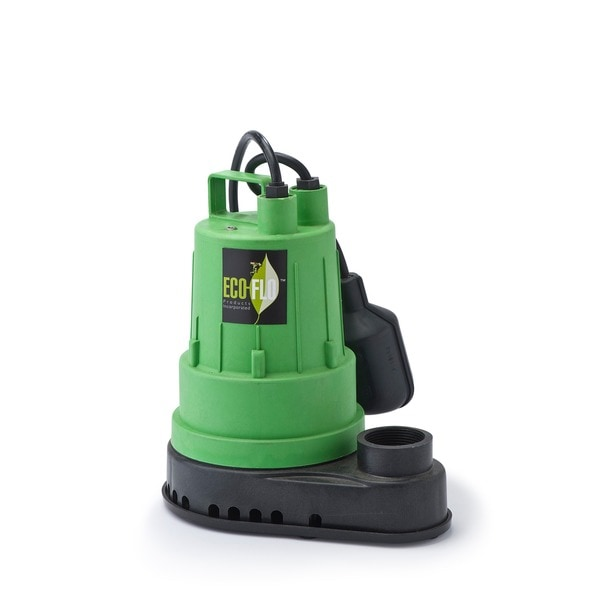 ECO-FLO Products SPP33W Green Shell Thermoplastic Sump Pump with 10-foot Cord