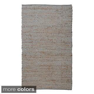 Hand-woven Regence Home Jute Neal Diamond Area Rug (7'5 x 9'5)