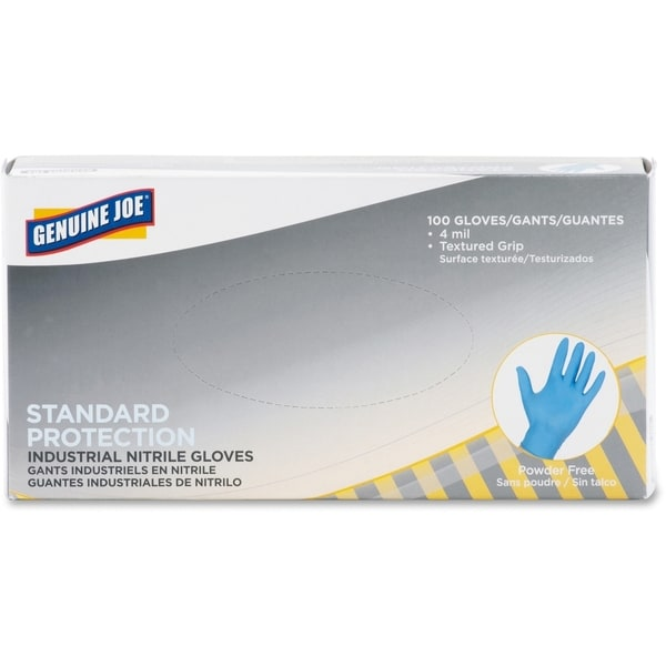 Genuine Joe Standard Industrial Nitrile Gloves Large Size