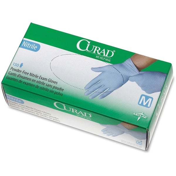 Medline Powder-free Nitrile Disposable Exam Gloves Medium Size