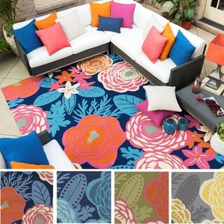 KD Spain Hand-hooked Lola Floral Polypropylene