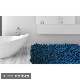Micro Chenille Thick and Long Loop Piles 21-inch x 34-inch Bath Rug (Set of 2)