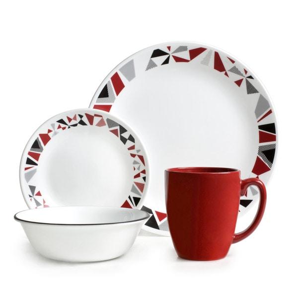 Corelle Livingware 16-piece Set Mosaic Red