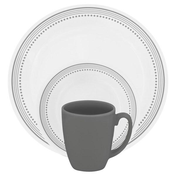 Corelle Livingware 16-piece Set Mystic Gray 15043323