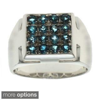 Michael Valitutti Silver Men's Gemstone Ring