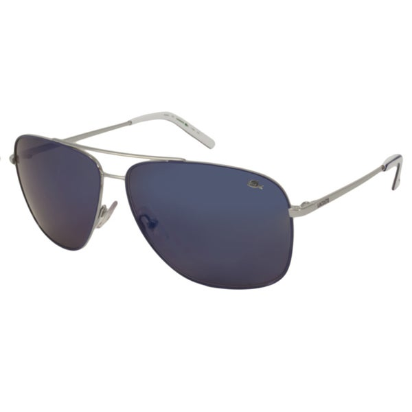 Lacoste Men's 'LA 128 045' Blue and White Metal Sunglasses (As Is Item)