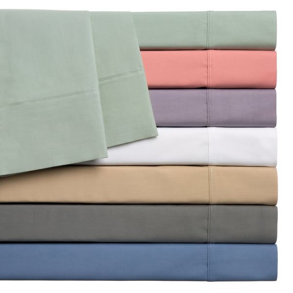 Home Styles Cotton Rich Solid Percale Sheet Set