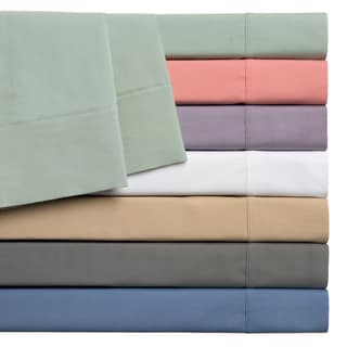 Home Styles Cotton Rich Solid Percale 250 Thread Count Sheet Set