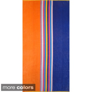 Oversized 100-percent Cotton Yarn Dyed Jacquard Striped Beach Towel
