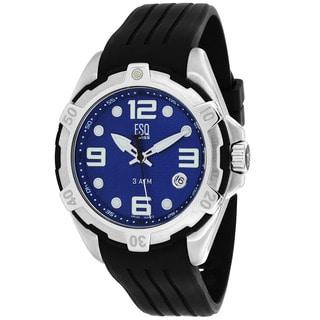 ESQ Men's 07301320 Torrent Round Black Rubber Strap Watch