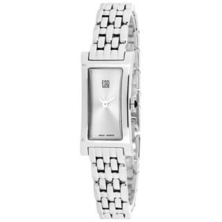 ESQ Women's 07100993 Tiado Rectangle Silvertone Bracelet Watch