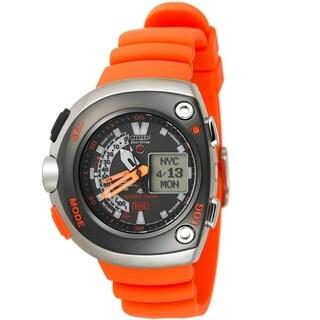Citizen Men's JV0020-21F 'Classic' Orange Rubber Watch