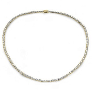 5 Carat 14K Yellow Gold Real Round Diamond Ladies Necklace