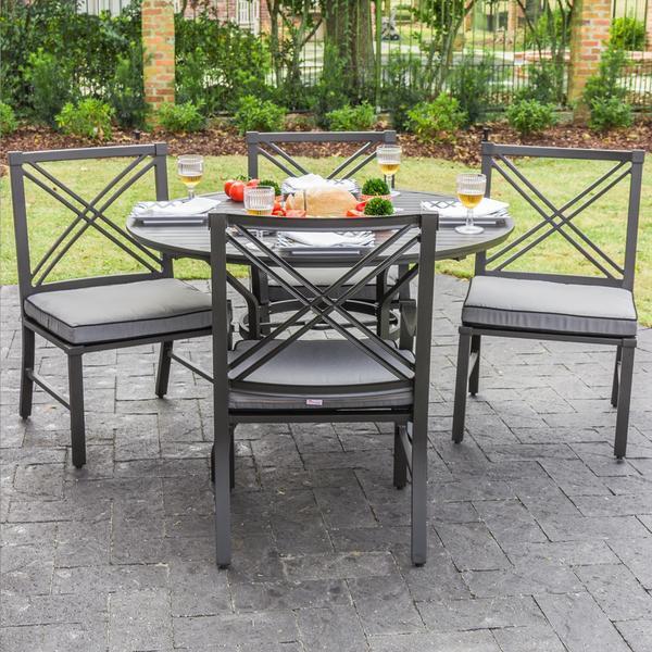 Audubon Grey Aluminum 4-person Outdoor Patio Set 15047788