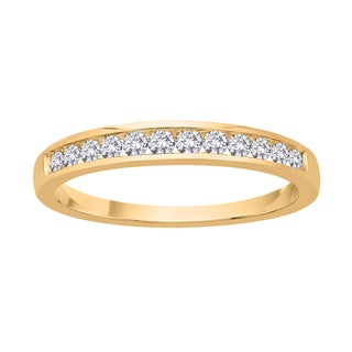 10k Yellow Gold 1/4ct TDW Diamond Wedding Band (J-K, I2-I3)