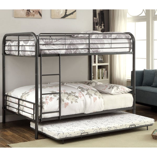 Furniture Of America Pierce Twin Over Twin Bunk Bed With Twin Trundle