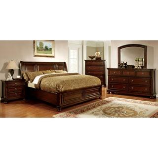 Furniture of America Barelle II Cherry 4-piece Bedroom Set