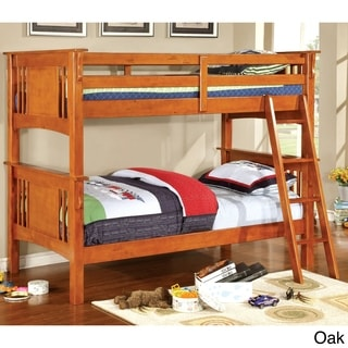 Furniture of America Ashton Youth Twin over Twin Bunk Bed