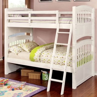 Furniture of America Arlene Mission Style White Twin/ Twin Bunk Bed