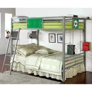 Furniture of America Athlete's Silver Metal Full/ Full Bunk Bed