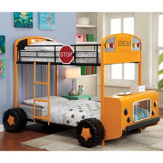 Furniture of America Elementary Bus Inspired Twin/ Twin Bunk Bed