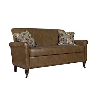 Portfolio Hyde Brown Renu Leather Sofa