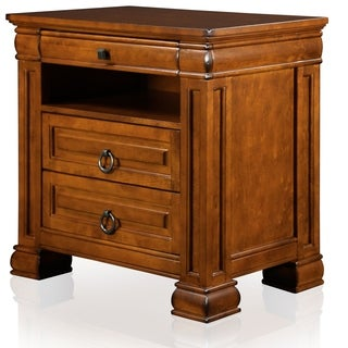 Furniture of America Claresse Bold 3-Drawer Nightstand