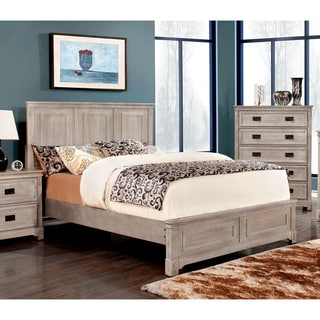 Furniture of America Godric Traditional Weathered Platform Bed