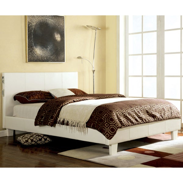 Furniture of america britney modern white leatherette for Furniture of america bed reviews