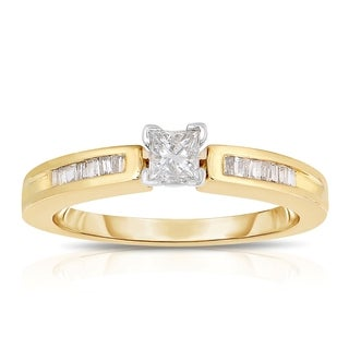 Eloquence 14K Yellow Gold 1/3ct TDW Diamond Engagement Ring (J-K, I1-I2)
