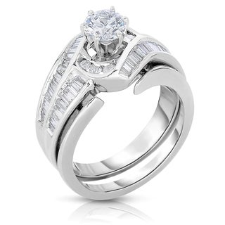 14k White Gold 1 1/2ct TDW Diamond Bridal Ring Set (H-I, I1-I2)