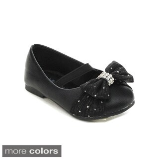 Jelly Beans COCAYA Toddler's Girl Elastic Strap Bow Design Dress Shoes