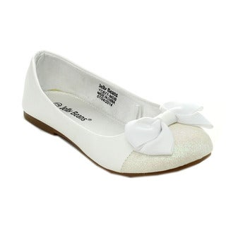 Jelly Beans MIRO Children's Slip-on Bow Design Loafer Style Comfort Flats