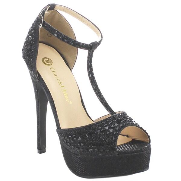 CHASE & CHLOE VALERIE-1 Women's Ankle Strap High Heels
