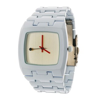 FORTUNE NYC Women's White Square Case with White Strap Watch