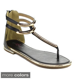 I HEART ALI-08 Women's Gladiator T-strap Flat Thong Sandals