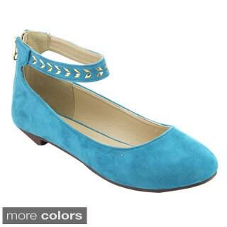 I HEART EMILY-03 Women's Ankle Strap Ballet Flats